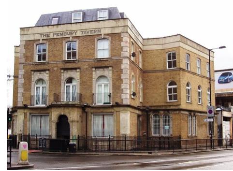 The Pembury Tavern, a famous Hackney landmark