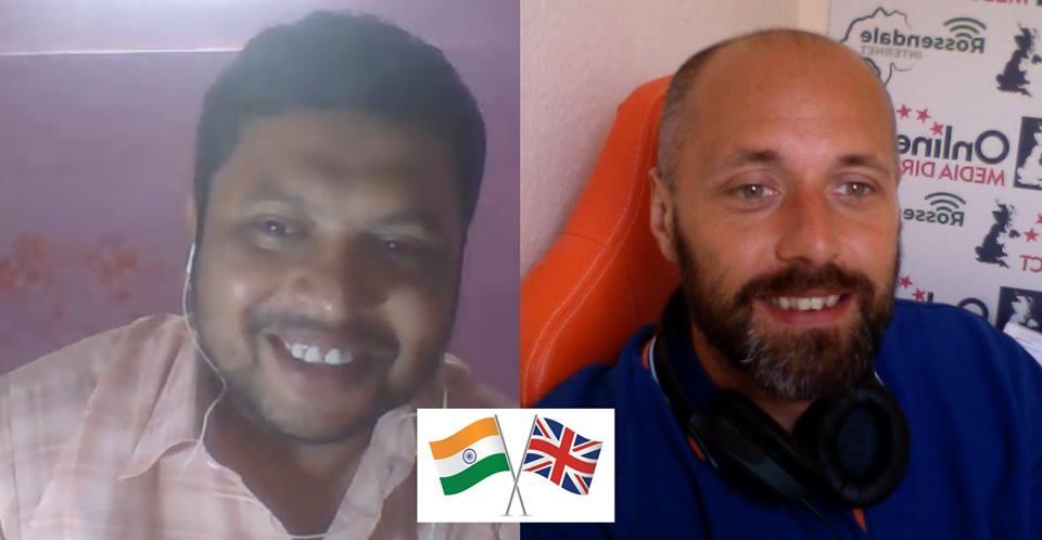 Prasenjit Halder and Garry Pickles India and UK Internet business
