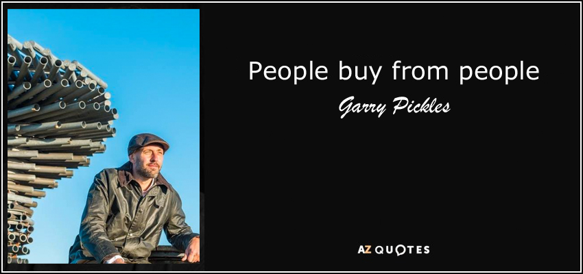 people buy from people quote