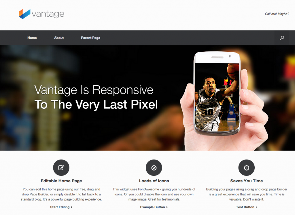 vantage responsive wordpress theme