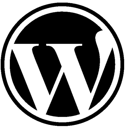 wordpress logo black
