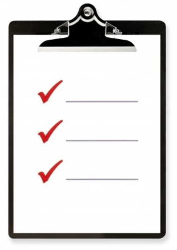 check list on clipboard