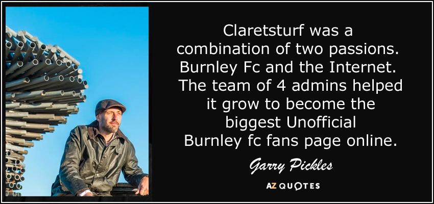 Burnley FC Quotes Turf Moor Bob Lord Lancashire Clarets